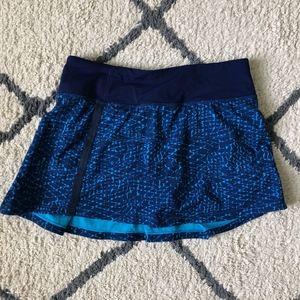 Blue Pattern Lululemon Pleated Skirt
